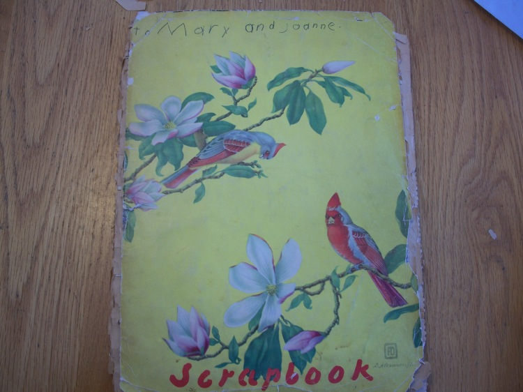 A scrapbook for Mary and Joanne, made by Eda.