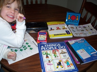 Greta with her curriculum.