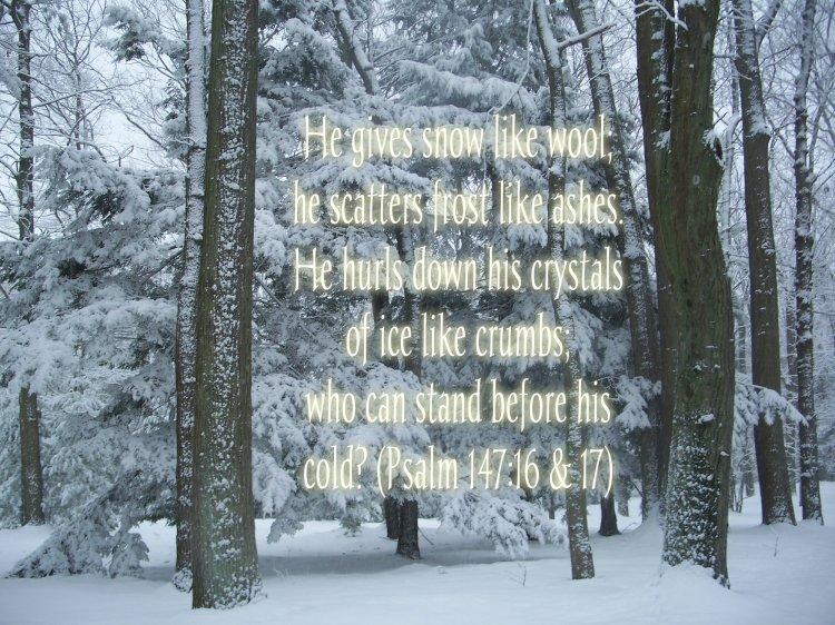 Psalm 147:16 & 17