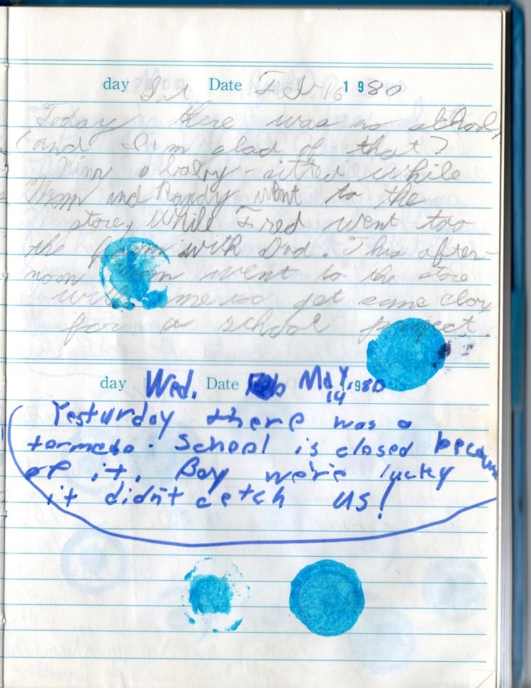 Original diary page