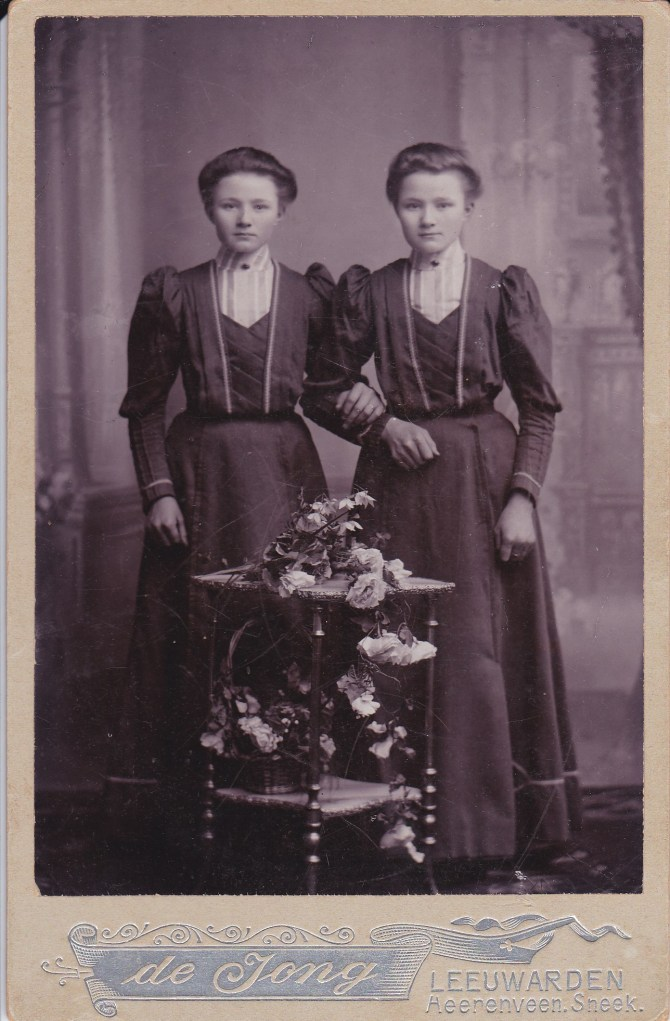 Twin sister, Josie and Anna Runia.  This picture was taken in the Netherlands before they came to the United States of America.