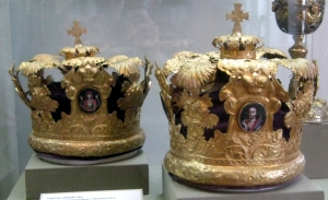 Russian style wedding crowns, 19th century