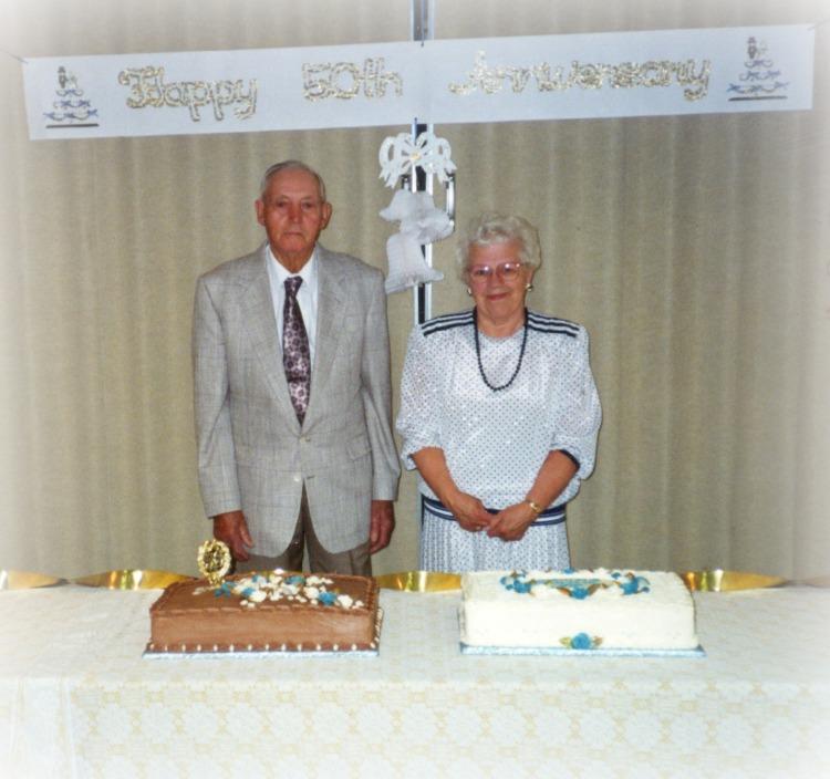 My grandparents, Fred & Ada Vlietstra celebrated their 50th wedding anniversary.