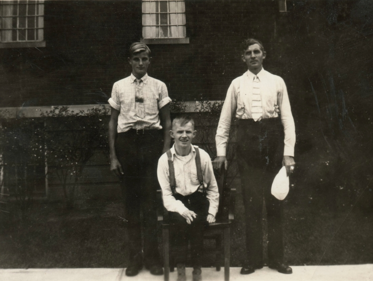 John and Sydney Van Dyk, with their father Meindert. (Josephine's brothers and dad)